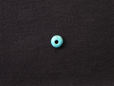 Large Hole Turquoise Magnesite Saucer Bead