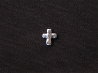 Metal Cross Bead Silver Colored
