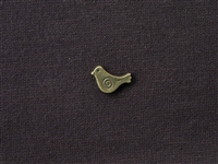 Metal Chubby Bird Bead Antique Bronze Colored