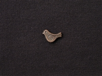 Metal Chubby Bird Bead Antique Copper Colored
