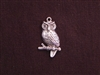 Charm Silver Colored Large Owl