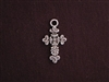 Charm Silver Colored Fancy Cross