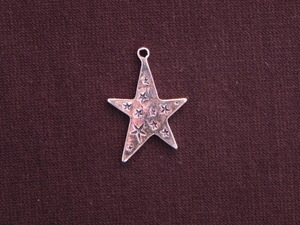 Charm Silver Colored Funky Star