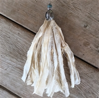 Tassel Project Antique Silver Cream Silk