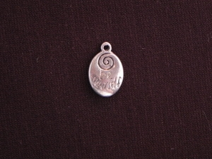Charm Silver Colored Be Yourself Drop