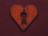 Rusted Iron Heart With Keyhole Pendant