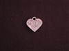 Charm Silver Colored Heart With Sister