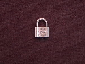 Charm Silver Colored Lock