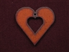 Rusted Iron Heart With Heart Cut Out Pendant