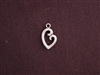 Charm Silver Colored Mother And Child Heart