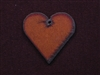 Rusted Iron Heart With Center Hole Pendant