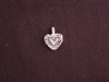 Charm Silver Colored Tiny Heart On Heart