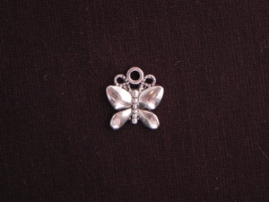 Charm Silver Colored Butterfly