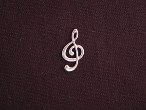 Charm Silver Colored Treble Clef