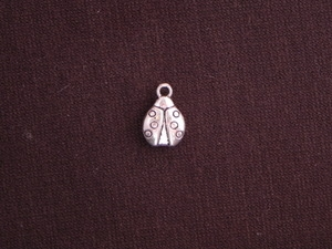 Charm Silver Colored Lady Bug
