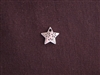 Charm Silver Colored Etched Star