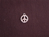 Charm Silver Colored Itty Bitty Peace Sign