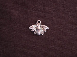 Charm Silver Colored Bumble Bee