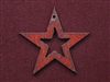 Rusted Iron Star With Star Cut Out Pendant
