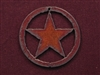 Rusted Iron Texas Star Pendant