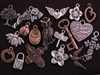 40 Antique Copper Colored, Antique Bronze Colored Or Silver Colored Charms (Mix & Match) for $60.00