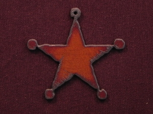 Rusted Iron Sherrifs Star Pendant
