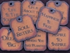 10 Funky Square Rusted Iron Inspirational Pendants (Mix & Match) for $40.00