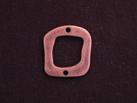 Connector Funky Square Antique Copper Colored