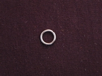 Jump Ring Large Heavy Silver Colored Plain