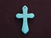 Cross Medium Turquoise Colored Howlite/Magnesite