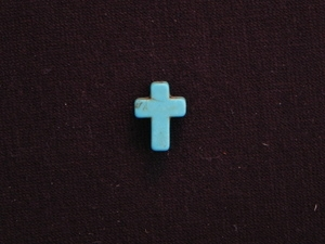 Cross Small Turquoise Colored Howlite/Magnesite