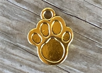 Charm Gold Colored Paw Print