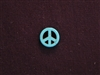 Peace Sign Turquoise Colored Howlite/Magnesite