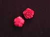 Rose Red Acrylic Resin Half Drilled Hole On Back