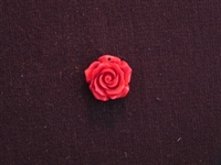 Rose Red Acrylic Resin Full Top Drilled Hole