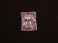 Pendant Silver Colored Message ~ Love
