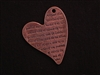 Pendant Antique Copper Colored Message ~ Spanish Love Poem