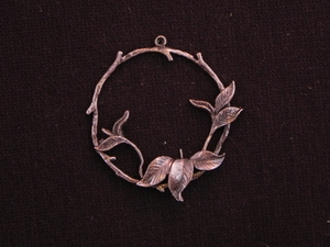 Pendant Antique Copper Colored Floral Wreath
