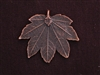Pendant Antique Copper Colored Maple Leaf