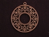 Pendant Antique Copper Colored Victorian Circle