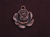 Pendant Antique Copper Colored Flat Rose