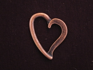 Pendant Antique Copper Colored Open Heart