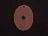 Pendant Antique Copper Colored Funky Oval With Star