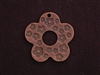 Pendant Antique Copper Colored Open Flower With Mini Flower Print