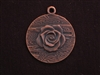 Pendant Antique Copper Colored Round Medallion With Rose