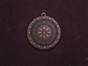 Pendant Antique Copper Colored Round Victorian Medallion
