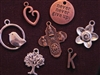 100 Antique Copper Colored, Antique Bronze Colored Or Silver Colored Charms (Mix & Match) for $100.00