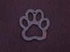 Rusted Iron Open Paw Print Pendant