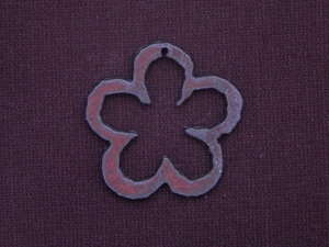 Rusted Iron Open Flower Pendant