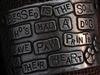 American Pewter Leather Cuff Plate BLESSED IS THE SOUL WHOS HAD A DOG LEAVE PAW PRINTS ON THEIR HEART